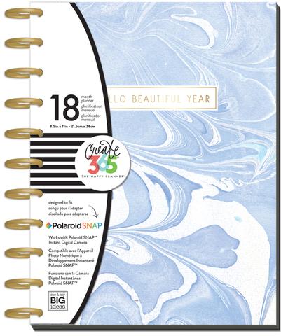 Ежедневник Create 365 Big Planner 23х28.5см .  Датирован с июля 2017 по декабрь 2018г