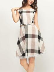GDR008946 Платье женское, черно-белое