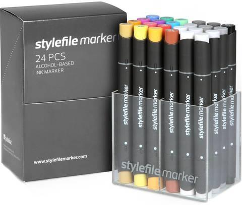 Набор маркеров Stylefile Classic 24 штуки (основные цвета A) в пластиковой упаковке