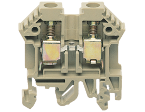RK 6-10 BG винтовая проходная клемма стандартного бежевого цвета  Артикул: 1005.2