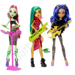 Набор кукол: Венера Макфлайтрап, Клодин Вульф и Джинафаер Лонг (Jinafire Long) - Свирепые Рокеры (Fierce Rockers), Mattel