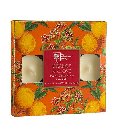 Набор ароматических чайных свечей Апельсин и гвоздика, Wax Lyrical