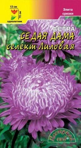 Семена Астра Седая дама Селекция Лиловая, Одн