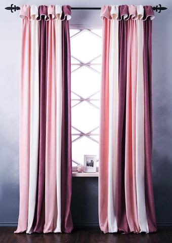 Комплект штор софт Спринг розовый