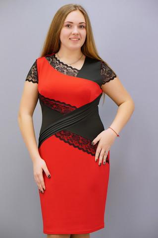 Мадлен. Платья больших размеров. Красный.