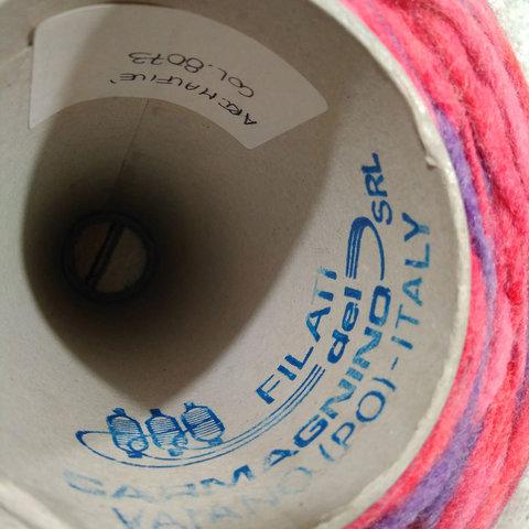 Фасонная пряжа с акрилом Carmagnino розовый мультиколор
