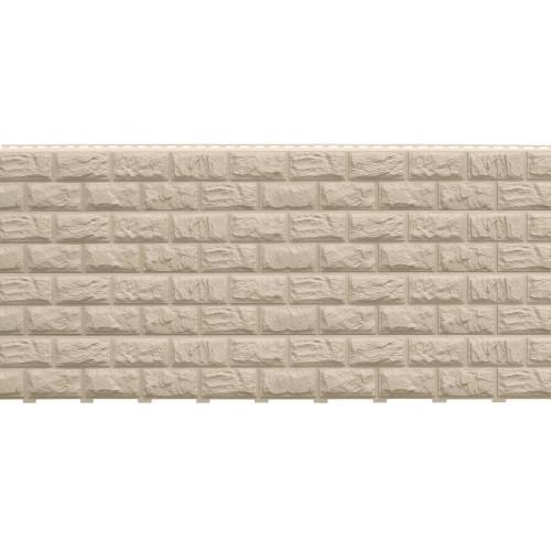 Фасадные панели (Цокольный Сайдинг) Доломит Альпийский (Дикий Камень) Слоновая кость