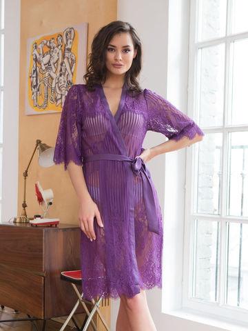 Женский кружевной халат MIA-MIA Lolita Лолита 17463 фиолетовый