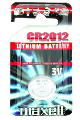 Батарейки литиевые Maxell CR 2012, 3V, 1BL (Япония)