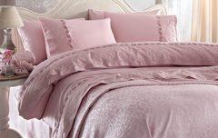 Постельное белье Gelin Home Charlotte розовый  евро
