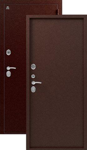 Тёплая дверь входная Сибирь S-3/3, 2 замка, 1,5 мм  металл, (медь+медь)
