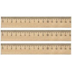 Линейка деревянная 15см 3шт/уп
