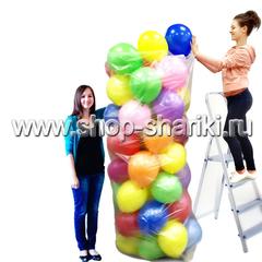 Упаковать шары в пакет
