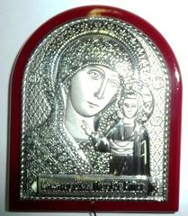 Серебряная икона Божией Матери Казанская 7х5см
