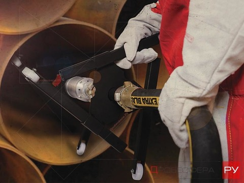 Устройство для очистки труб изнутри РВТ-2