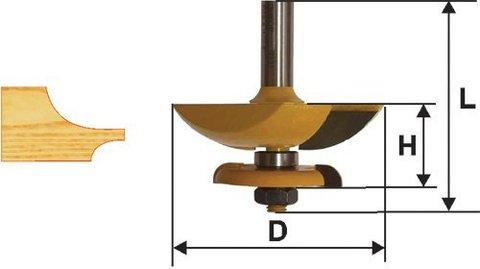 Фреза фигирейная горизонтальная  двустворчатая 79,4 х 12 мм