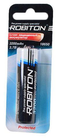 аккумулятор Robiton 18650 Li-Ion 3200 mAh, защищенный