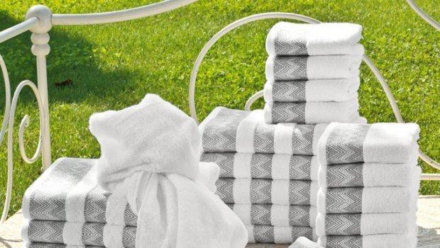 Наборы полотенец Набор полотенец 5 шт Caleffi Mikonos белый caleffi_mikonos.jpg