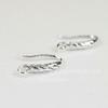 Швензы - крючки с узором (цвет - серебро) 13х12 мм