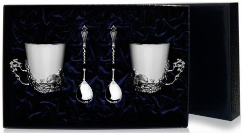 Набор серебряная чайная пара «Куница»