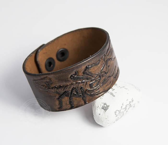 BL475 Мужской браслет со скорпионом ручной работы фото 04