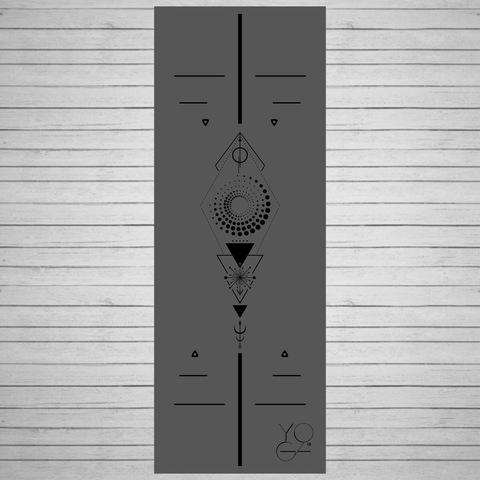 Каучуковый коврик для йоги Tatoo c разметкой 185*68*0,5см