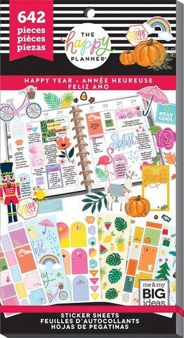 Блокнот со стикерами Value Pack Stickers - Happy Year - 642 шт