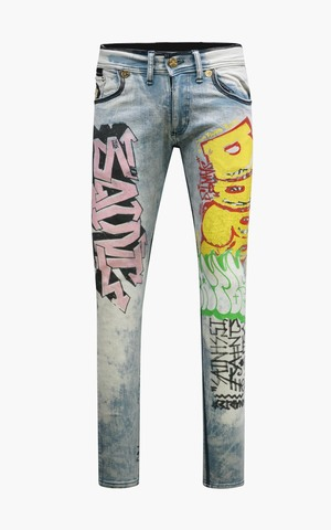 Джинсы The Saints Sinphony HAND PAINTED GRAFFITI JEAN BLEACH