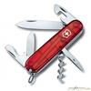 Нож перочинный Victorinox Spartan 91мм 12 функций прозрачный красный (1.3603.T) нож перочинный victorinox spartan silvertech 1 3603 t 91мм 12 функций полупрозрачный серебристый