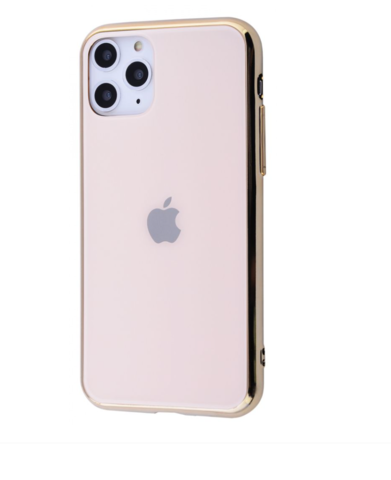 Чехол iPhone 11 Pro Max Glass Case Logo /gold/