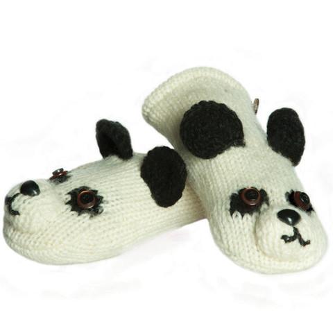 варежки Knitwits Patches the Panda