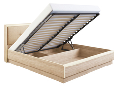 Кровать «Оливия» с мягкой спинкой с подъемным механизмом 1,6