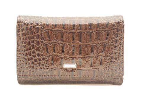 Кошелёк коричневый женский Coscet нат.кожа CS21-302C