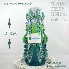 Резная свеча c фирменной символикой