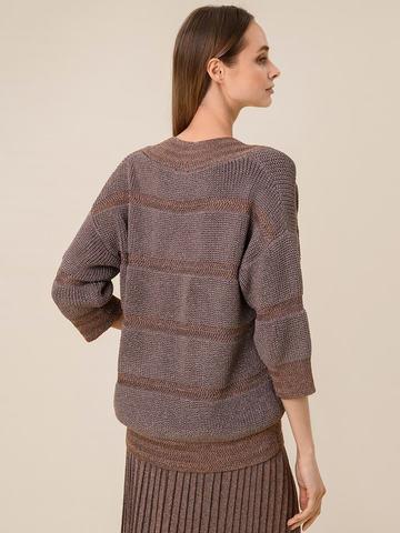 Женский джемпер коричневого цвета из вискозы - фото 2