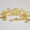 Комплект колечек одинарных 4х0,7 мм (цвет - золото), 10 гр (примерно 300 шт)