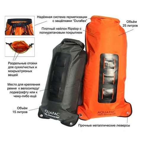 Рюкзак Aquapac 770 Noatak Wet & Drybag 25L Black