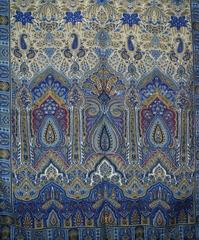 Шарф голубых оттенков в Русском стиле фото 2
