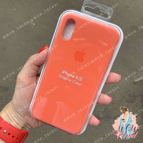 Чехол iPhone X/XS Silicone Case /nectarine/ нектарин original quality