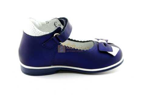 Туфли ELEGAMI (Элегами) из натуральной кожи для девочек, цвет темно синий металлик, артикул 7-805761502. Изображение 4 из 13.