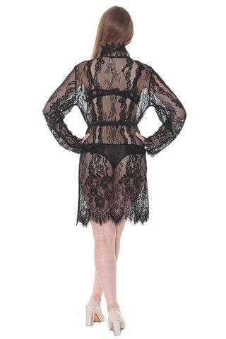 Женский халат с кружевом MIA-MIA Milana Милана 17663 черный