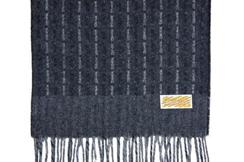 Шерстяной шарф черный 30341