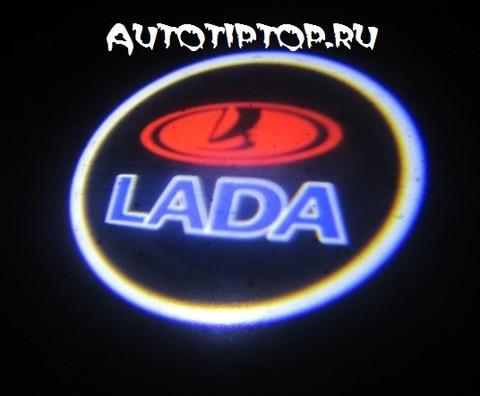 Лазерная проекция с логотипом Lada - Лада
