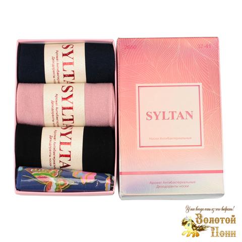 Носки женские в коробочке 3 ШТ+платок (37-41) 191208-S2650