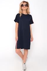 Хит сезона !!! Платье в стиле casual  - прекрасное решение для повседневной жизни. Удобно, модно, современно! Платье свободного кроя с лампасами.Длина по спинке 44р=93 см.,46р=94 см.,48р=95 см.,50р=96 см.