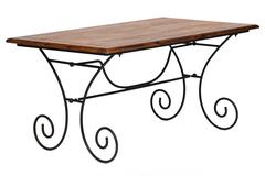 Обеденный стол Secret De Maison Люберион (Luberon) (mod 7) — дерево палисандр/металл