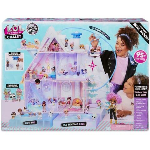 Большой Зимний дом Шале (Зимнее Диско) для кукол ЛОЛ с 95 сюрпризами - LOL Surprise Chalet Winter Disco, MGA