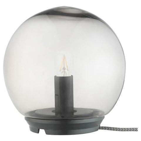 ФАДУ Лампа настольная, серый, 17 см