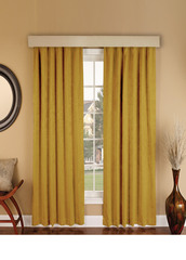 Suede (темно-желтый). Готовая штора - имитация замши