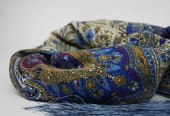 Шарф голубых оттенков в Русском стиле фото 4